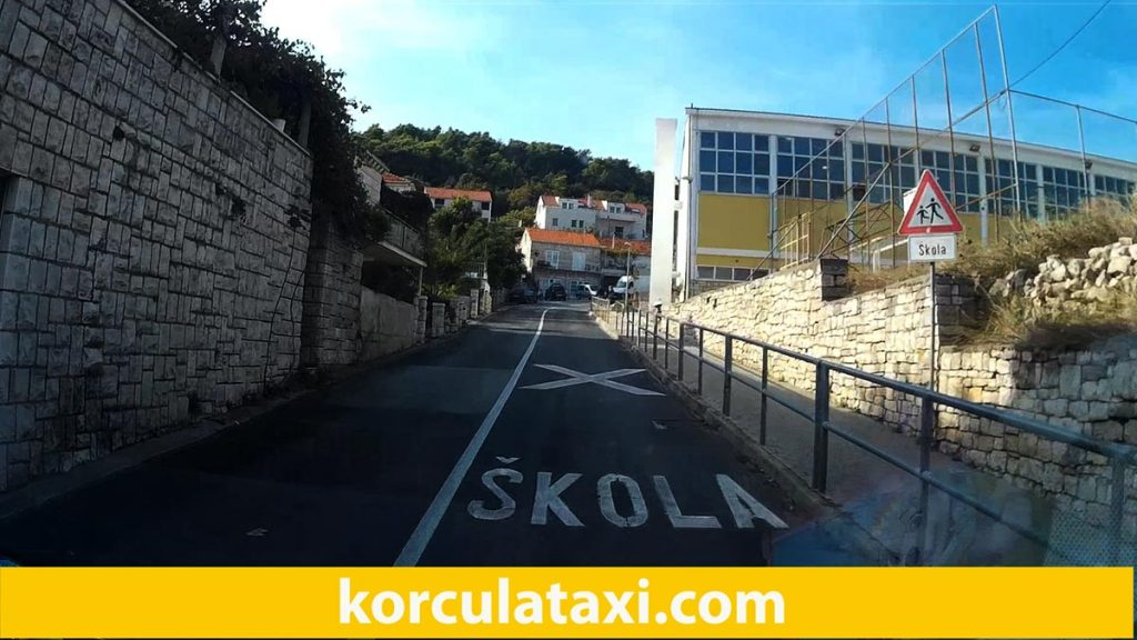 The beginning of the ride from Korcula taxi station