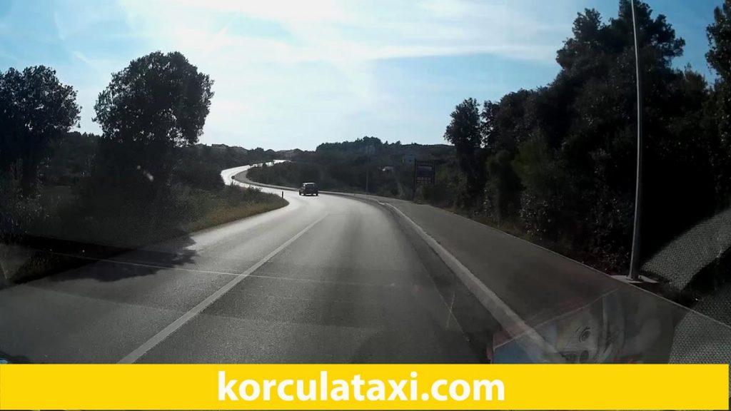 Driving towards Lumbarda and its beaches
