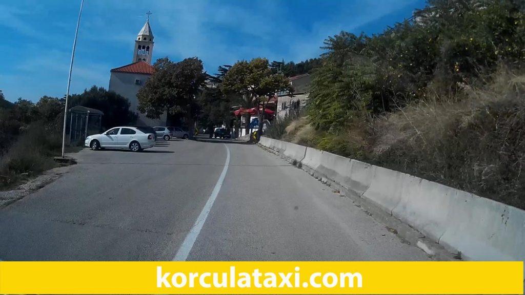 Driving through Cara village