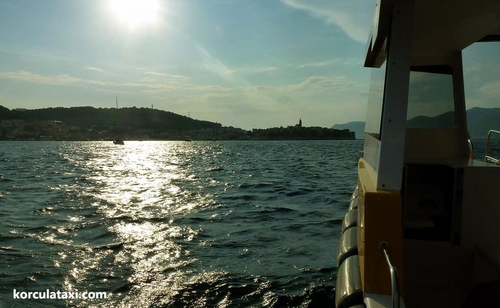 Water Taxi ride from Badija to Korcula
