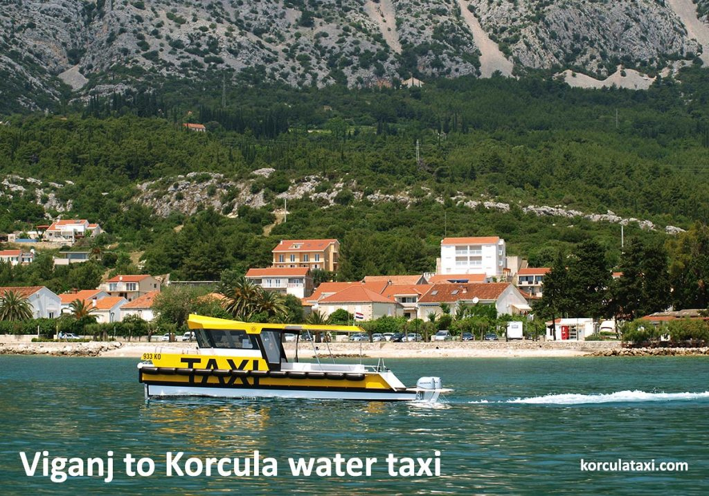 Getting to Viganj from Korcula by water taxi